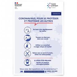 Affiche officielle « COVID-19 - Gestes barrières » (Réf : G1543)