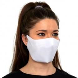 Masque facial en tissu blanc