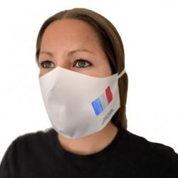"""Masque en tissu imprimé """"Bleu-Blanc-Rouge"""""""