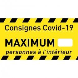 Affiche Consigne COVID-19 « Personnes à l'intérieur »