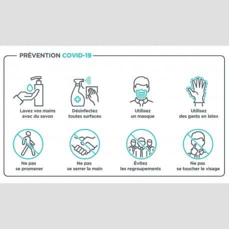 Affiche information « Prévention COVID-19 »