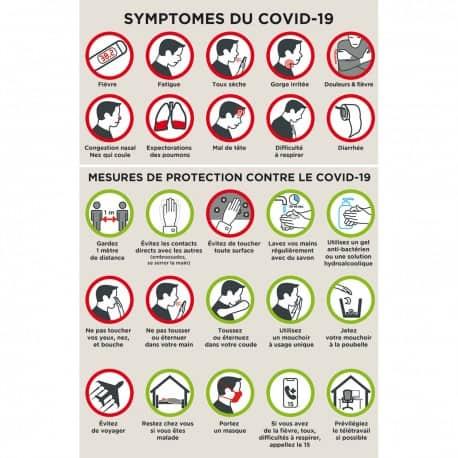 Affiche information « Symptômes COVID-19 »