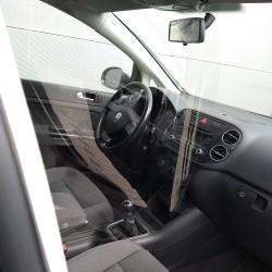 Paroi de protection transparente pour intérieur de véhicules « Type-L »