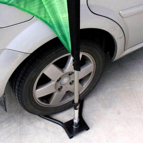 Pied de beachflag pour voiture