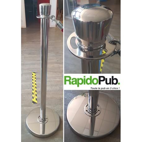 Poteau pour les barrières modulaires pour les terrasses de café et de restaurant