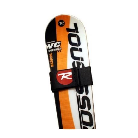 Attache ski publicitaire