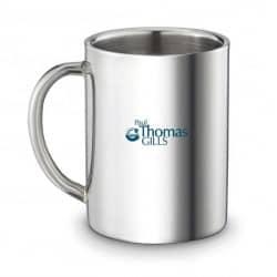 Mug isotherme en acier poli