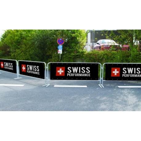 impression bâche barrière de sécurité course marathon événement sportif