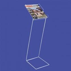 Porte brochures verre acrylique sur pied design