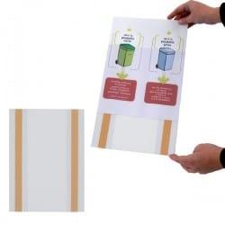 Porte affiche adhésif éco