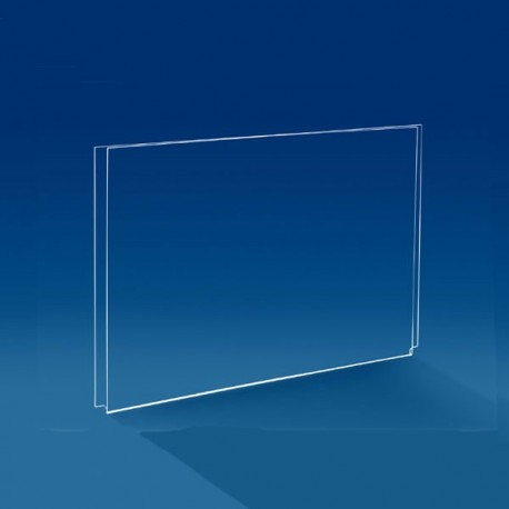 Porte affiche horizontal vitrine cable tendu