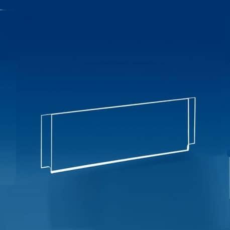 Porte titre horizontal système cable tendu pour vitrine