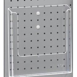 Porte-brochures plastique transparent