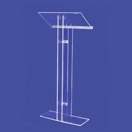 Pupitre lutrin verre acrylique transparent de conférence