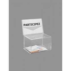 Urne cartes de visite transparente