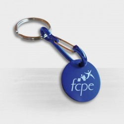 Porte-clés jeton caddie personnalisé en aluminium