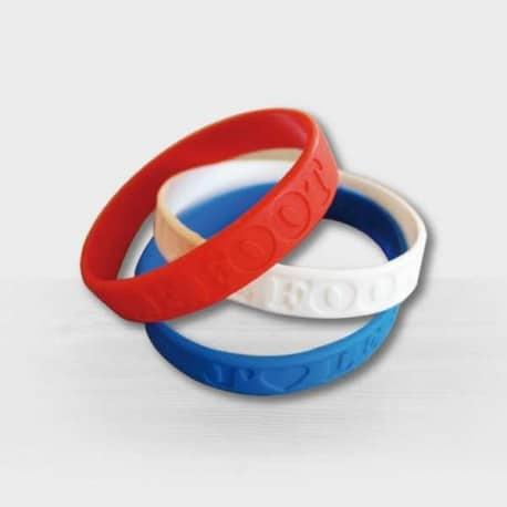 Bracelet silicone personnalisable gravé