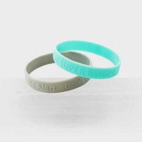 Bracelet silicone publicitaire gravé en relief
