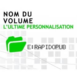 Nom du volume personnalisé clé USB publicitaire