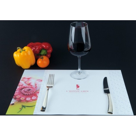 Impression set de table papier brasserie restaurant