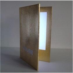 Porte menu lumineux LED sur mesure