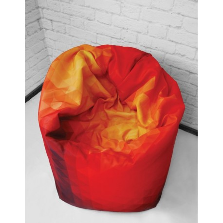 Pouf bean bag personnalisation logo, mobilier impression logo événement