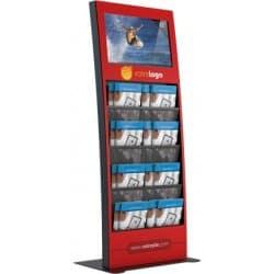 "Porte-flyers avec écran vidéo (22"")"