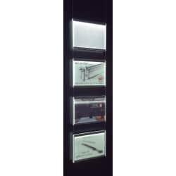 Kit 4 porte fiches A4 paysage pour fixation plafond