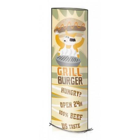 Totem en carton imprimé pliable et design pour votre magasin ou vos points de vente