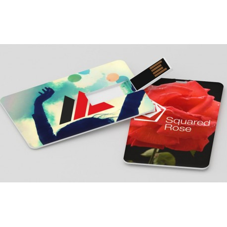 clé usb publicitaire format carte de crédit impression logo quadri recto/verso