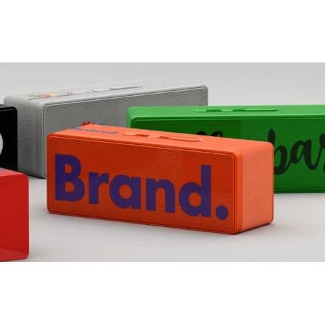 Enceinte Bluetooth publicitaire Living marquage logo pour smartphone tablette