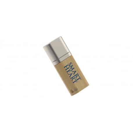 Clé USB en bois Duo avec gravure logo pour cadeau promotionnel