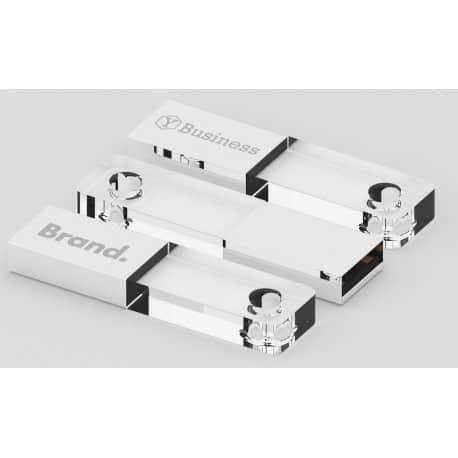 Clé USB lumineuse publicitaire Barracuda avec gravure laser logo