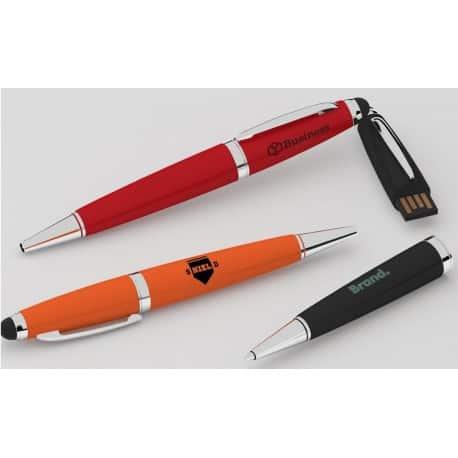 clé usb publicitaire en forme de stylo avec stylet intégré pour smartphone