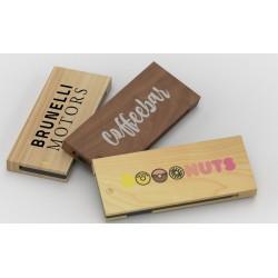 Clé USB publicitaire en bois Razor Wood gravure laser logo