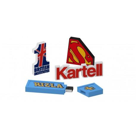Clé USB publicitaire à la forme 2D Simple