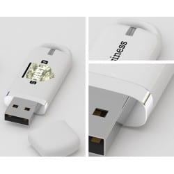 Clé USB plastique Easy avec marquage logo pour dossier de presse