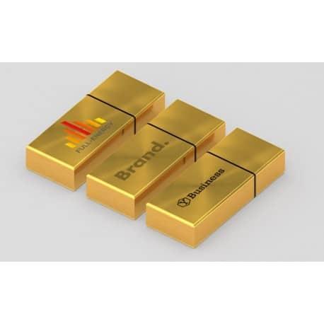 Clé USB publicitaire métal argent/or design Vortex gravure laser logo