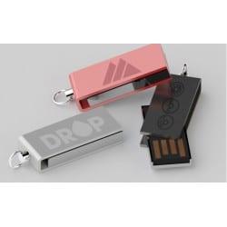 Clé USB pivotante acier avec gravure laser logo pour cadeaux d'affaires