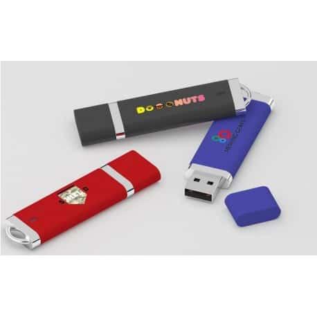 Clé USB plastique doux (caoutchouc) ou lisse Stiff pour cadeaux publicitaires