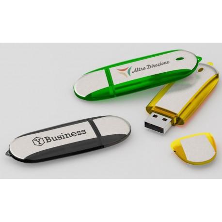 Clé USB publicitaire satinée Stone marquage logo pas cher discount petite quantité