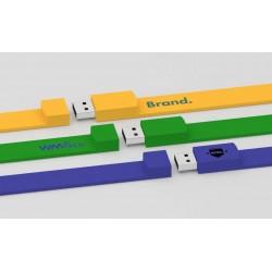 Clé USB publicitaire bracelet Silik marquage logo pas cher pour événement