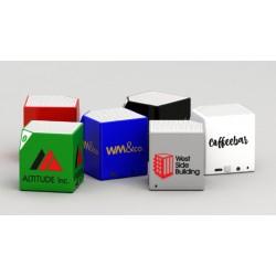 Haut-parleur Bluetooth portable Cube publicitaire pour cadeau d'affaire innovant