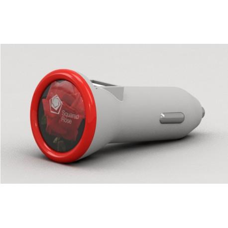 Chargeur téléphone Allume-cigare Ring avec marquage logo pour objet publicitaire loueur voiture garage concession automobile