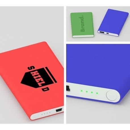 gravure logo sur batterie externe de secours pour smartphone et tablette