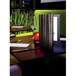 Menu LED A4 double face bronze pour carte cocktail bar, restaurant, boissons club discothèque