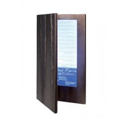 Menu LED format carte Cocktail 35x19cm bronze pour bar, restaurant, club, discothèque, hôtel, plage privée