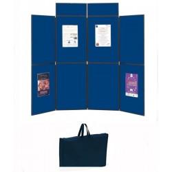 Stand expo pliable et portable 6 ou 8 panneaux