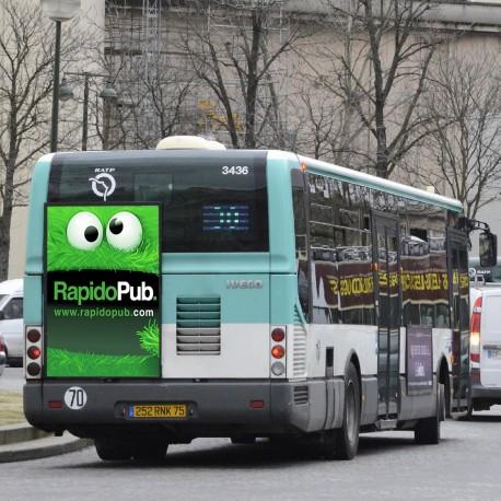 Affiches sur papier pour les bus et les transports en commun