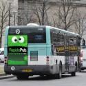 Affiches en papier pour les flancs et arrières de bus